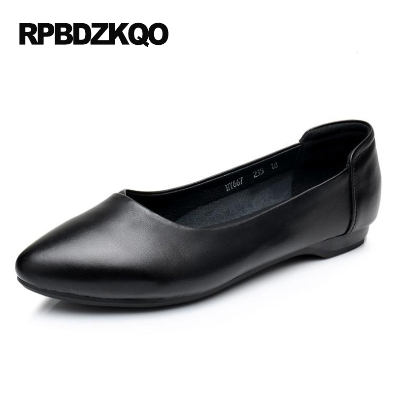 Flats Fitness Women Pointed Toe Black Female 2017 Plain Comfy Shallow Work Slip On Size 9 Ladies Beautiful Shoes European Drop enmayer pointed toe summer shallow flats slip on luxury brand shoes women plus size 35 46 beige black flats shoe womens