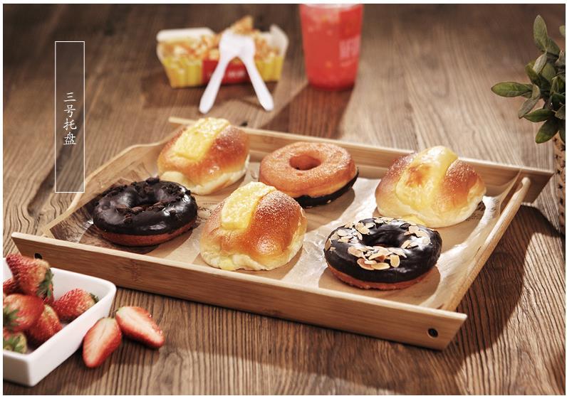 Bamboo tea tray Kungfu tea set size tea tray Japanese simple bamboo tray rectangular solid wood/bamboo