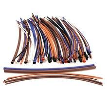 Лучшее качество 100 шт. 2:1 6 размеры 5 цветов ассортимент полиолефиновый н-типа термоусадочной трубки рукава комплект проводов