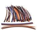 Melhor qualidade 100 pcs 2:1 6 tamanhos 5 Colors variedade poliolefinas h-tipo de Heat Shrink Tubing tubo mangas envoltório Cable Kit