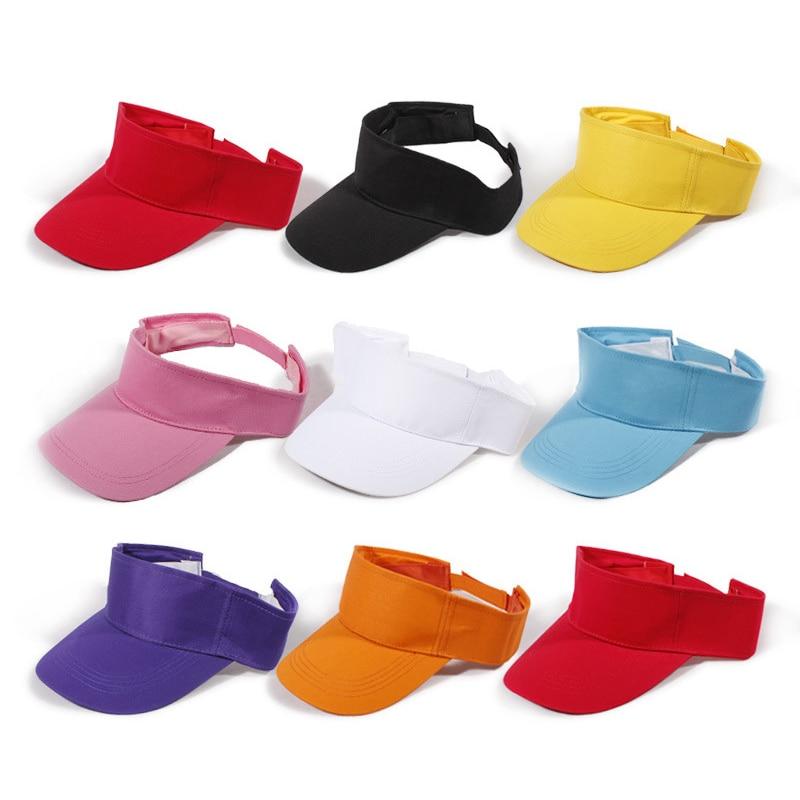 Plain Visor Sun Caps  Sport Hat  8 Styles Adjustable Solid Color Breathable Cotton Sunshade Tennis Caps For Tennis Beach B2Cshop leg extension split machine