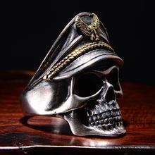 Готическое панк кольцо для мужчин ретро скелет дьявол мужское кольцо из нержавеющей стали Череп Регулируемый Преувеличение
