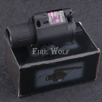 FIRE WOLF Combo Tactical CREE Q5 LED Flashlight LIGHT 200LM RED Laser Sight For Pistol Gun