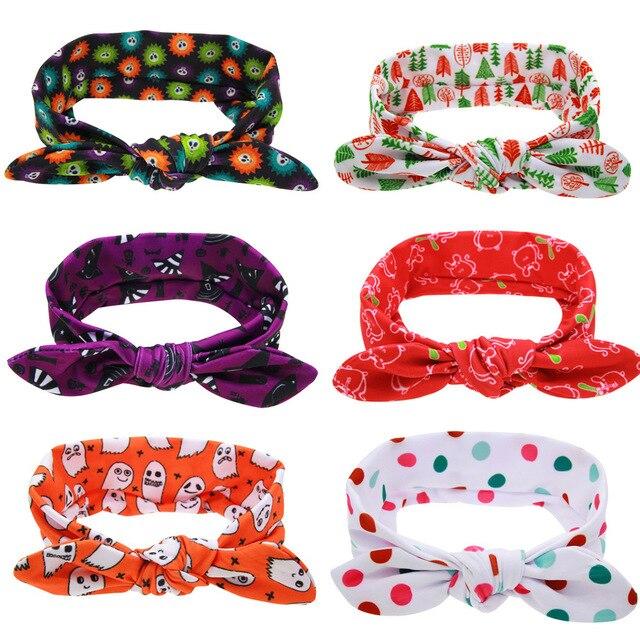 Girls Toddler Newborn Infant Halloween Christmas Elasticity Headbands Children Hair Band Accessories Kids Headwear Baby Hairband
