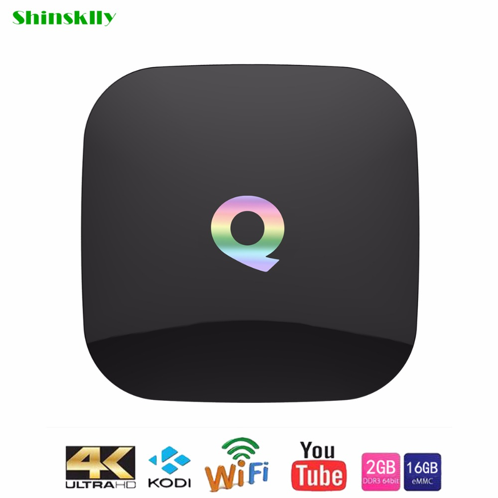 ФОТО Q-BOX Smart TV box S905X Quad Core RAM2G+16G Android 6.0 TV box UHD 4K KODI 2.4G 5G WiFi Bluetooth 4.0 Media Player set top box