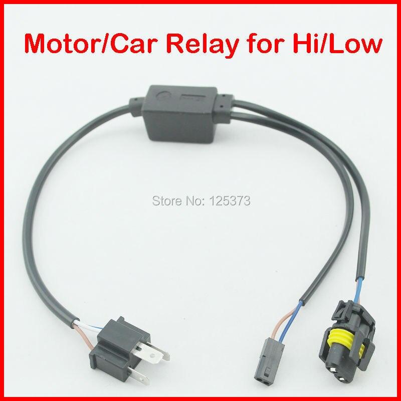 Wholesale 10pcs 35W/55W H4-3 Bixenon HID Xenon Bulbs Small Wire Harness H4 Hi Low Xenon Lamp 1 to 1 Cable Free Shipping