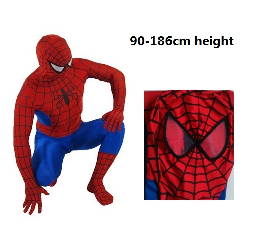 men's kids boys Fantasia amazing blue spandex spiderman cosplay costume Infantil spider man Christmas halloween outfit zentai