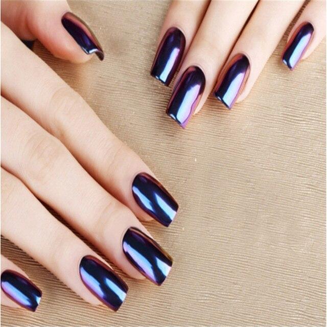 Mirror Powder Metallic Effect Dust Chrome Pigment Shinning Nail Art ...
