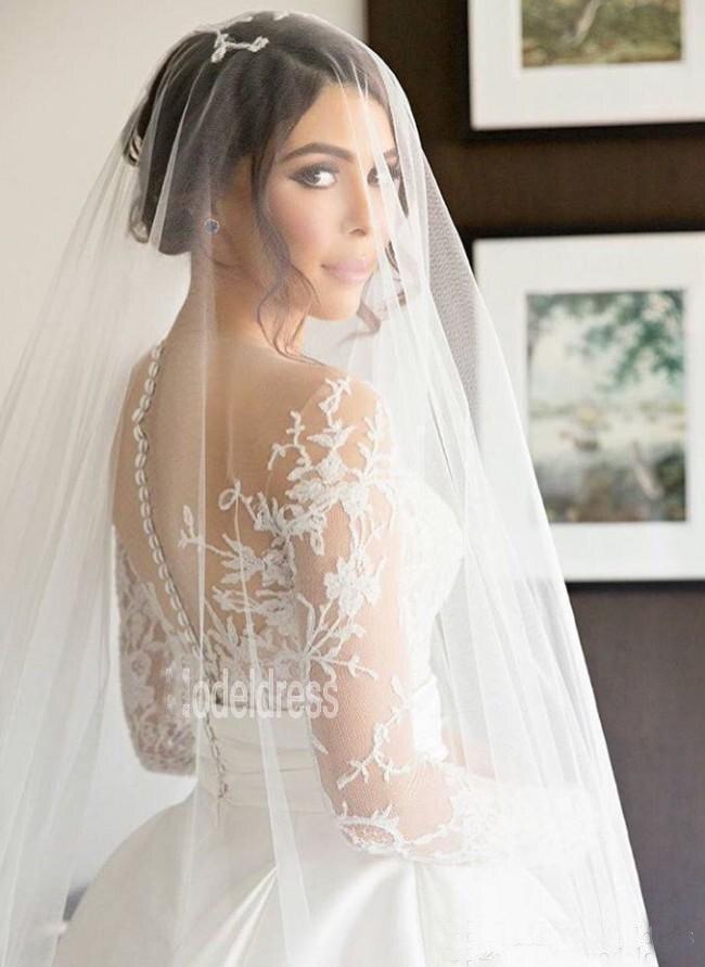 New Split Steven Khalil Wedding Dresses With Detachable Skirt Sheer ...
