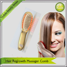 Anti Hair Loss Health Beauty Care Hair Nourishing Purple Red Led Photon Ionic Vibration Hair Massager Comb