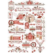 2 pçs feliz natal cervos diy decoração uncut papel à prova dwaterproof água adesivo estético papelaria scrapbook diário planejador adesivos