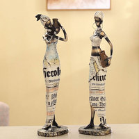 African Exotic Furnishings Creative Living Room Decoration Home Accessories Resin Figures Ornaments Decoration Crafts