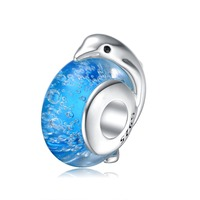 Aceworks Ocean Dolphin Charms Beads 925 Sterling Silver Fit European Bracelet Chain Neckalce Retro Ethnic Women