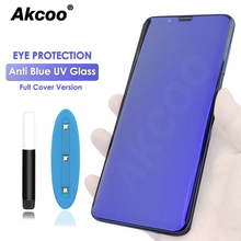 Akcoo S9 Plus UV Glass Screen Protector anti blue light protect eyesight for Samsung galaxy S8 9 10 Note 8 glass film