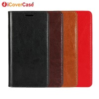 For OnePlus 5T Case Original ICoverCase Genuine Leather Wallet For One Plus 5T Case Cover Flip