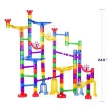 122pcs Creative DIY Marble Race Run Maze Balls Track Blocks Assembly House Construction Building Bricks Toy  Building Blocks
