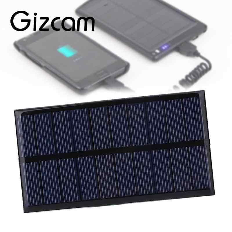 Gizcam 5ボルト1ワット100maポリシリコンソーラーパネルポータブルdiyソーラー電源携帯充電器モジュール用屋外旅行電話充電器