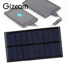 Gizcam 5V 1W 100mA Polysilicon Solar Panel Portable DIY Solar Power Cell Charger Module for Outdoor Travel phone charger