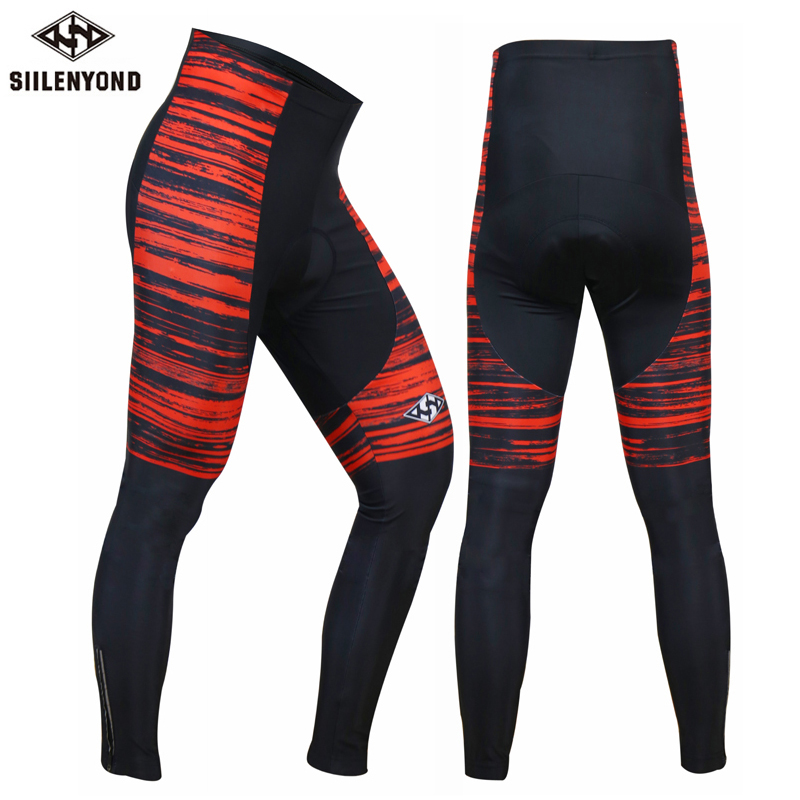 Siilenyond 2018 Cycling Downhill Pants Winter Thermal Fleece Pro Ropa Ciclismo 3D Gel Padded Windproof MTB Warm Bike Long Pants