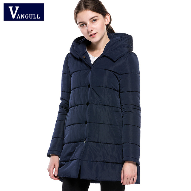 c7a80788254 Vangull 2017 New Women Winter Jacket Down Cotton Padded Coats Female Casual  Thick Warm Winter Coat Hooded Long Loose Parkas