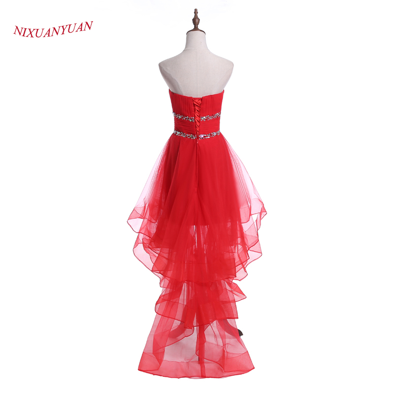 NIXUANYUAN 2017 New Design High Low Prom Dress 2017 Sweetheart ...