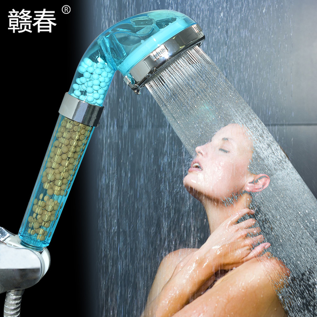 Spring Shower Nozzle, Shower Nozzle, Pressure Negative Ion SPA Massage  Shower Head