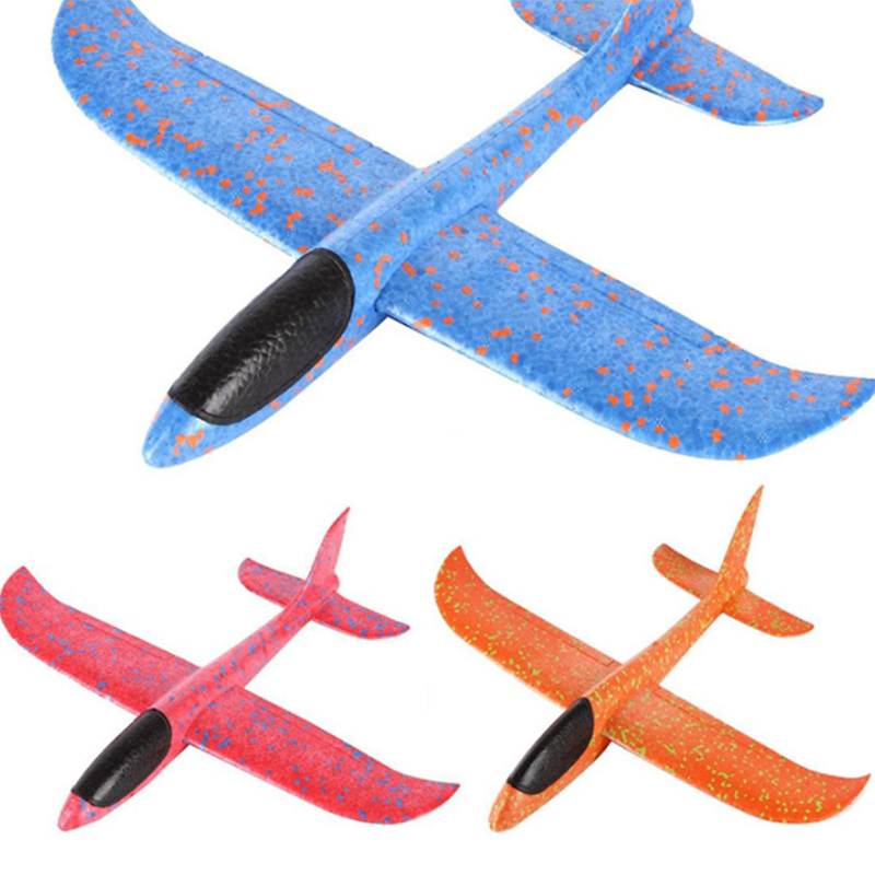 Fun airplane Toy Hand Launch Throwing Glider Aircraft Inertial Foam Epp Airplane Toy Children Plane Model Outdoor Big Quality hl 803 material epp fx 803 rc plane rc glider airplane model airplane radio uav hobby trasporto libero free shipping
