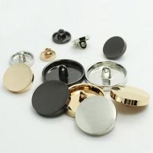 24 шт./лот Металл плоское зеркало Для женщин куртка ручной кнопки Модная рубашка золотой высокого уровня плоской пряжкой Пуговицы