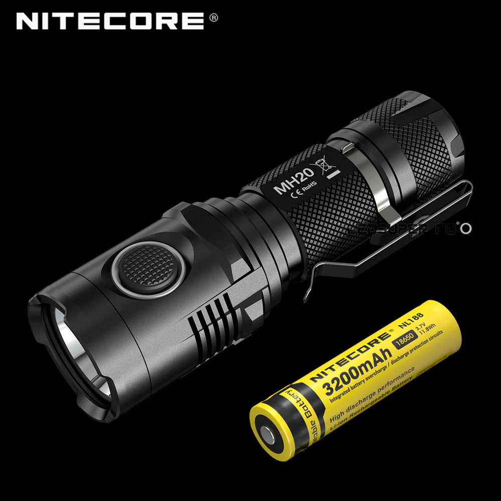 buy original nitecore mh20 lampe torche. Black Bedroom Furniture Sets. Home Design Ideas
