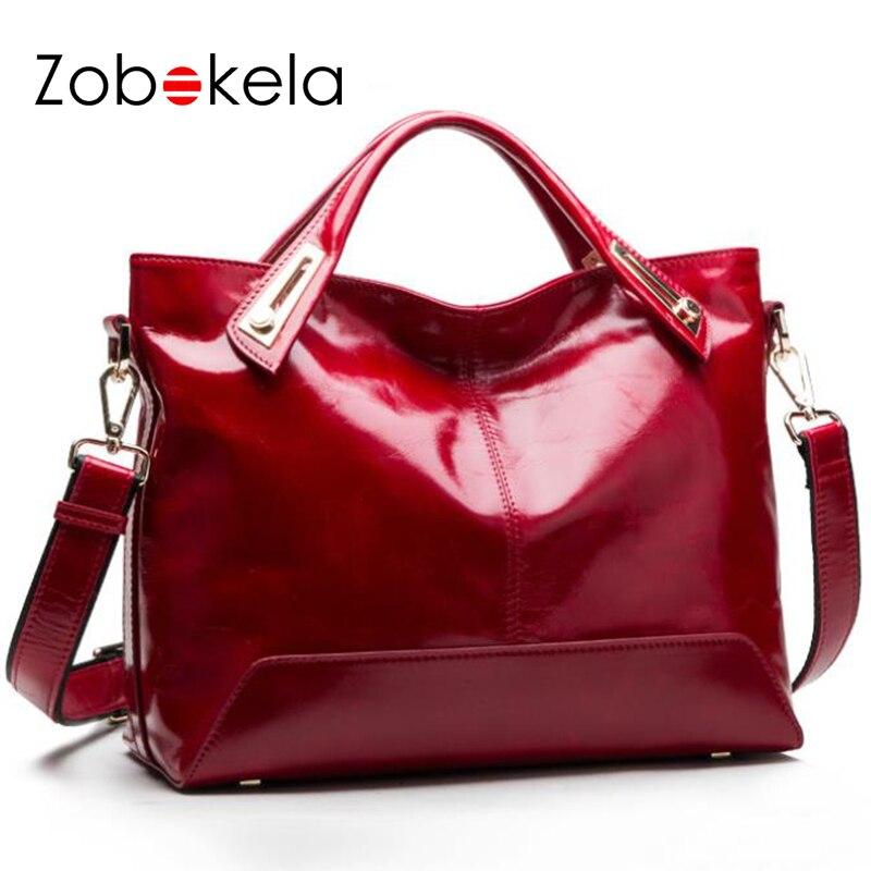 ZOBOKELA Women leather handbags luxury handbags cheap women messenger bags designer women shoulder bag famous brands tote bags