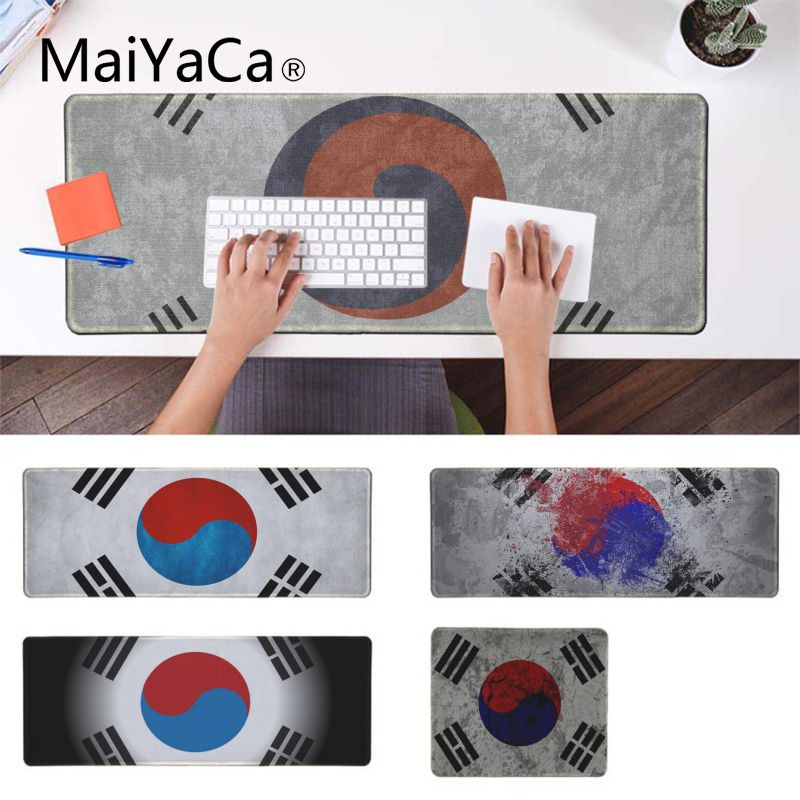 MaiYaCa Top Quality Korea Flag Customized MousePads Computer Laptop Anime Mouse Mat Laptop Gaming Lockedge Mice Mousepad