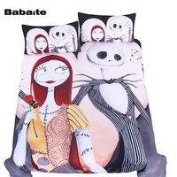 Babaite Nightmare Before Christmas Custom Cartoon Bedding Set No Fading Soft Duvet Cover Pillowcases Twin Full