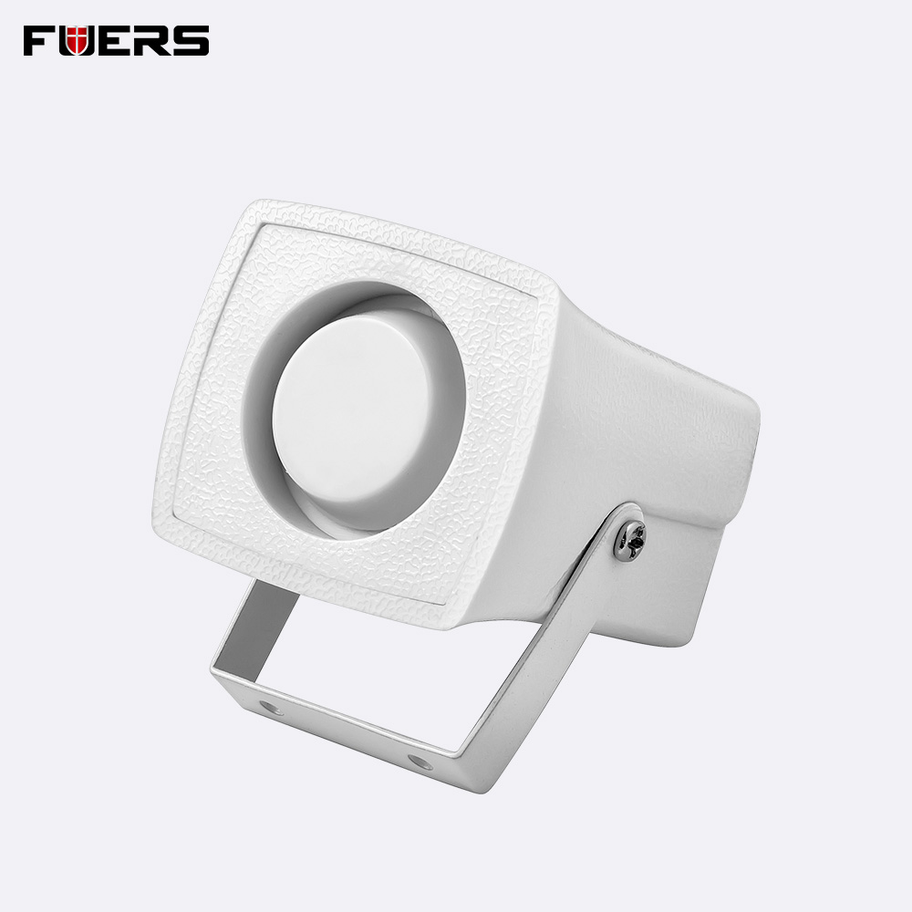 Wired White Mini Siren For Home Alarm Security Systems  Mini Siren Loudly Sound for Protection Security 110dB Personal Alarm
