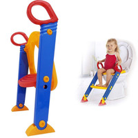 Kids Potty Training Seat with Step Stool Fold Potty Toilet Trainer Seat Ladder Baby Toilet Chair For Child Toilet Training Seat