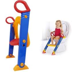 Los niños orinal asiento de entrenamiento con el paso taburete plegable orinal inodoro entrenador asiento escalera bebé baño silla para niño asiento de entrenamiento para el baño