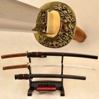 Japoński handmade 1095 stal węglowa samurai sword katana full tang ostrze kwiat tsuba katanas sharp może ciąć bambusy hurtowa