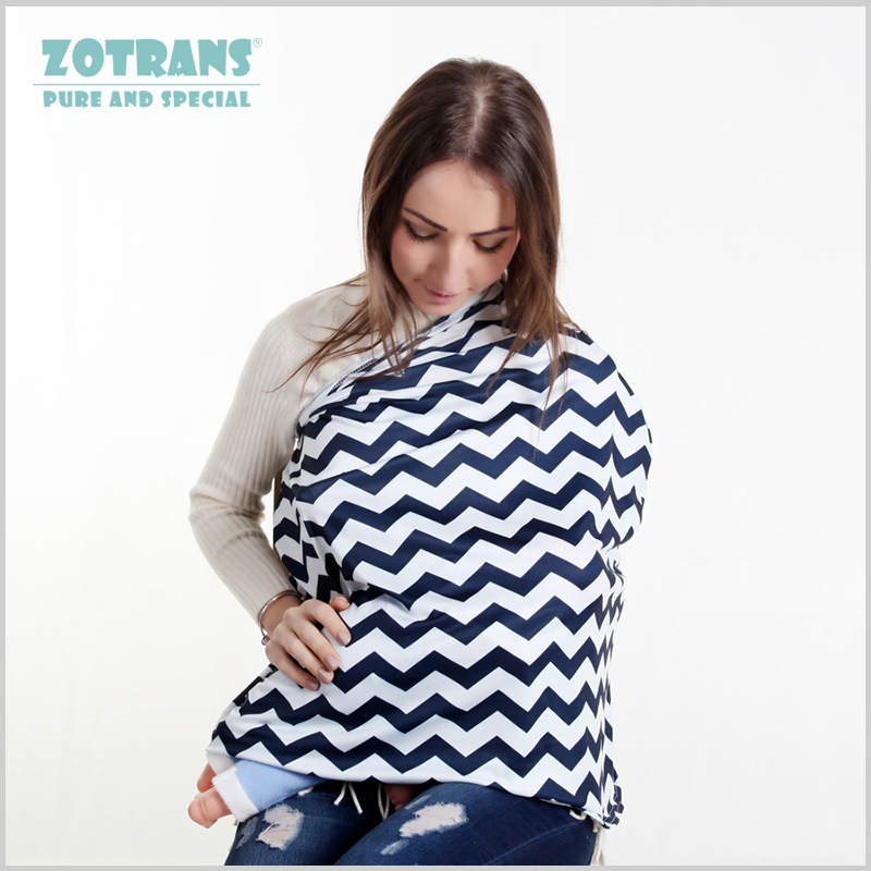 Nursing Cover Scarf Stripe Breastfeeding Cover Multi-Use Baby Stroller Cover Infant Car Seat Cover for Mum