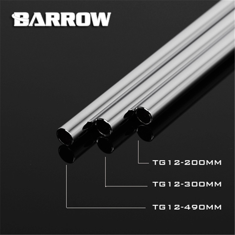 Barrow Copper Chrome Plated Metal Rigid Tube 200mm 300mm 490mm Length OD12 14 16MM