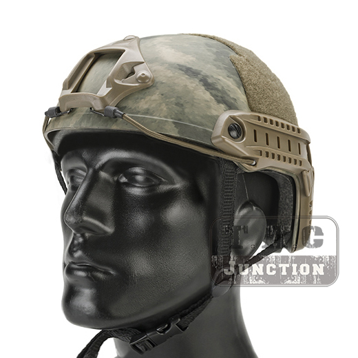 Emerson Tactical Airsoft Fast Helmet MICH Ballistic MH Type Advanced Adjustment Lightweight OPS Helmet w/ NVG Shroud + Side Rail 2015 new kryptek typhon pilot fast helmet airsoft mh adjustable abs helmet ph0601 typhon