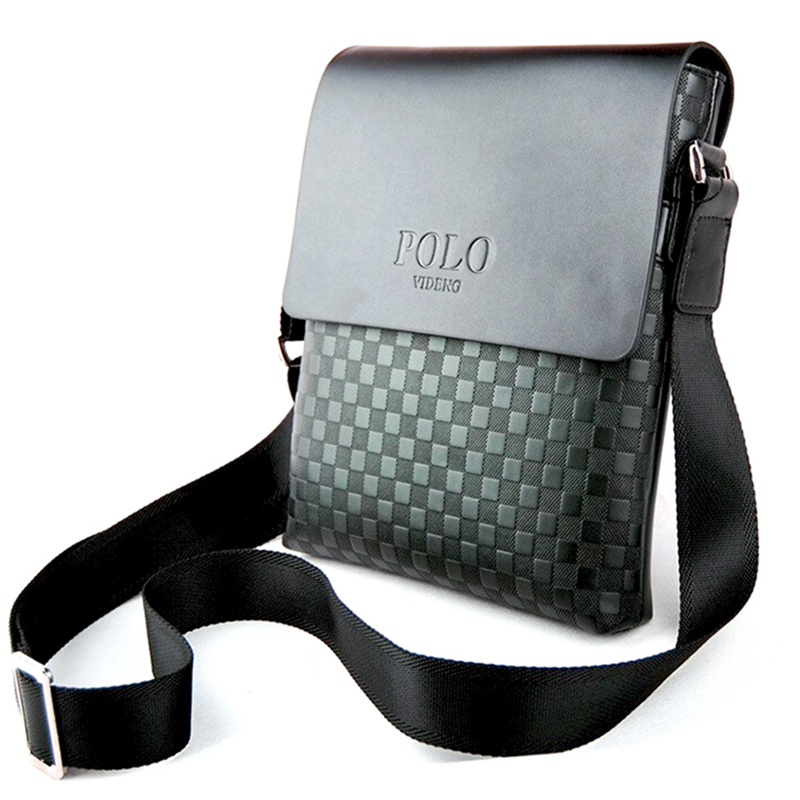 ... Luxury Classic Plaid POLO Brand Men messenger bags Mans leather  shoulder bag Business crossbody bags for ... 3139c4913a7e1