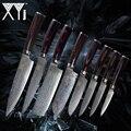 XYj Keuken Damascus Stalen Messen Nieuwe Collectie 2018 VG10 Core 8 Stuks Sets Japanse Damascus Staal Keuken Koken Accessoires Tool