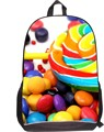 2016 Fashion Women school bags 3D Candy Print Ladies Casual Travel backpack Tote Girls school Bags Large Capacity Backpack