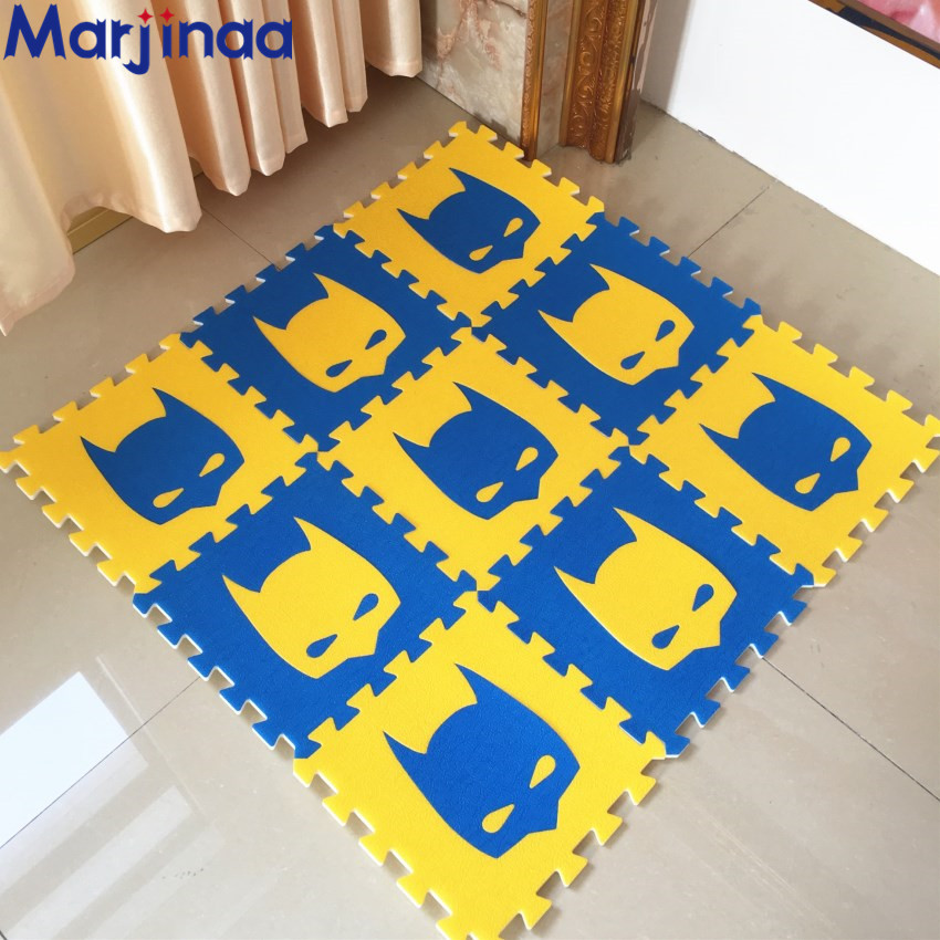 New 10 Sqft Blueyellows Foam Mats Exercise Gym Puzzle Soft Tile