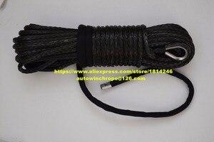 """Image 1 - Kostenloser Versand Schwarz 3/8 """"* 100ft Synthetische Winde Seil, Ersatz Winde Kabel, 3/8"""" Off Road Seil, Spectra Seil"""