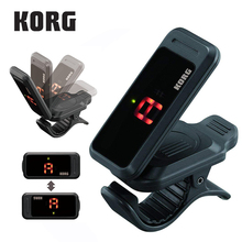 KORG PITCHCLIP PC 1 PC 2 PC1 PC2 Ultra Portable Low Profile Clip on Guitar Tuner Chromatic Tuner Ultra Portable  Easily Folds