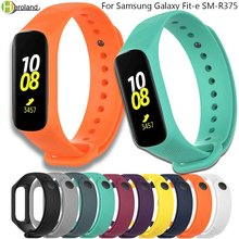 Watch Strap Silicone for Samsung Galaxy Fit-e SM-R375 Wristband Strap Smart Bracelet Sport Replacement Accessories Watch Bands bemorcabo 2pcs replacement wristband for samsung galaxy gear s sm r750 smart watch soft touch feeling tpu watch bracelet strap