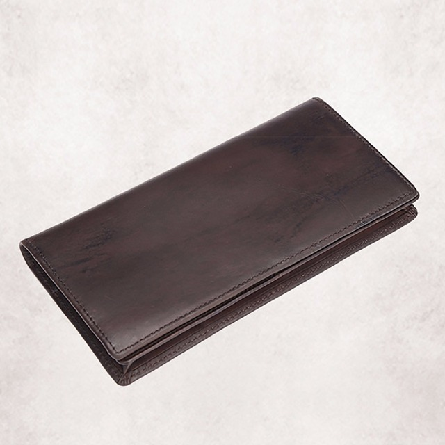 New Genuine Leather Cowhide Men Clutch Money Bag Vintage Long Purse Coin Pocket Case Card Holder Luxury Brand Male Bifold Wallet