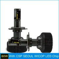 SAFEVIEW High Low Beam Led H4 Car Headlight 5000K Bulb HB2 9003 30W White 6000K 12V