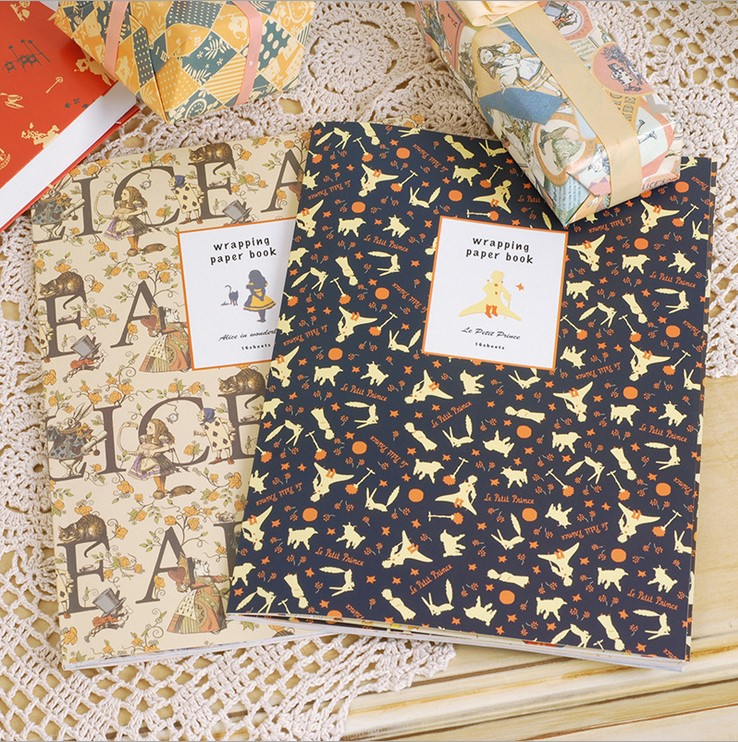 little prince vintage wrapping paper book alice in wonderland gift wrapping papers for scrapbooking,cardmaking alice in wonderland activity book level 4