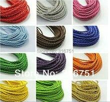 Бесплатная Доставка 12 цвет Круглый Плетение Leatheroid Украшения Шнура 3 мм Длина 95 М (Выбрать цвет) (W03121-W03134))